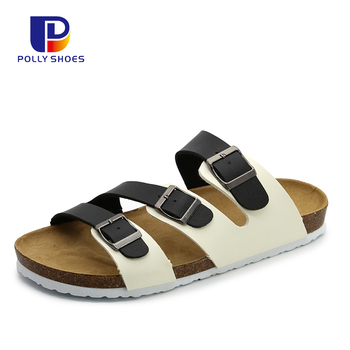 OEM Adjustable Strap Classic Summer Men Beach Cork Sole Shoes