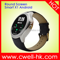 Round X1 Gold Silver Black 3 Colors 1.3 inch RetinaTouch Screen MTK6572 Dual Core Single SIM Best Android Watch Mobile