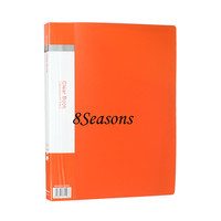 Factory Custom Eco-friendly Orange Rectangle PVC Clear Book 30 Pocket Presentation Document Plastic A4 Paper File Folder