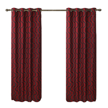 Hotel quality thermal jacquard eyelet blackout curtains