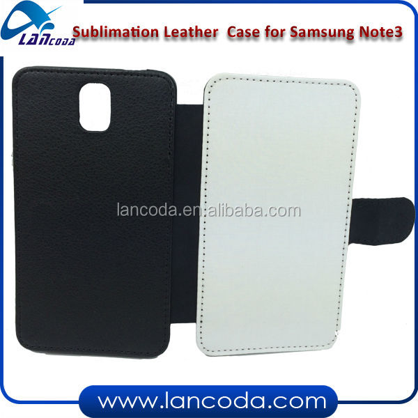 sublimation leather mobile phone cover for Samsung Note3/N9006