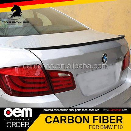 Carbon Glossy Black Spoiler Wing Lip For BMW F10 M5 type spoiler 2010-2016