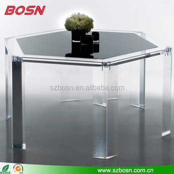10 years factory direct sell SGS transparent acrylic table legs