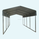 aluminum carport roofing material/storage shelter/used carports for sale