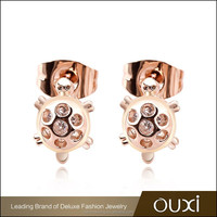 OUXI Factory Direct Sale genuine austrian animal sex with ladies cute earring