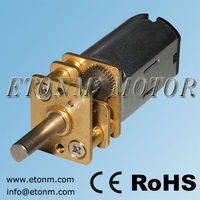 5V battery operated dc motor for door lock, 1.5v dc low rpm gearbox motor