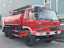 Dongfeng AWD 6*6 Water Truck Fire Water Trucks With Big Spraying Range Monitor for sales