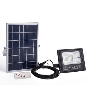 High Brightness integrated aluminium Outdoor ip65 10w 20w 25w 30w 40w 50w solar led flood light