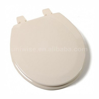 Molded Round Wood Toilet Seat Soft Close Hinges Bone White Mdf Moulded Toilet