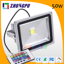 50w rgb outdoor color changing led spotlight