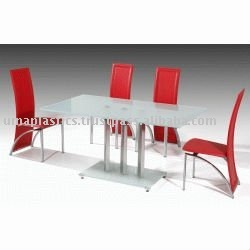 Plastic dining table and chair set buy plastic dining - Set de table pvc ...