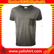 Mens Short Sleeve cotton blank stone washed blank t-shirts wholesale