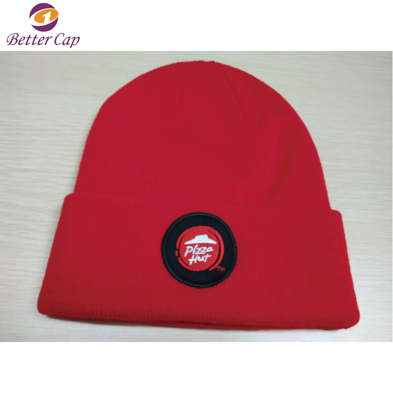 guangzhou factory promotion custom made winter knitted hat