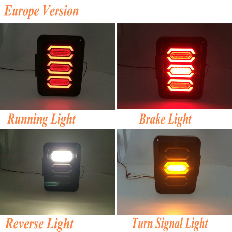 USA Europe Version Plug LED Jeep Wrangler Tail Light For Jeep JK tail lamp