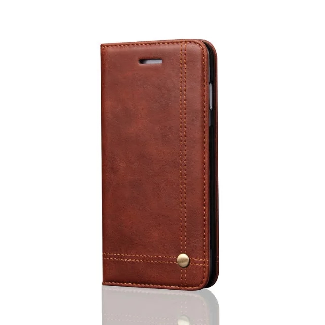 mobile phone accessories , business style flip wallet leather cell phone case for iphone X