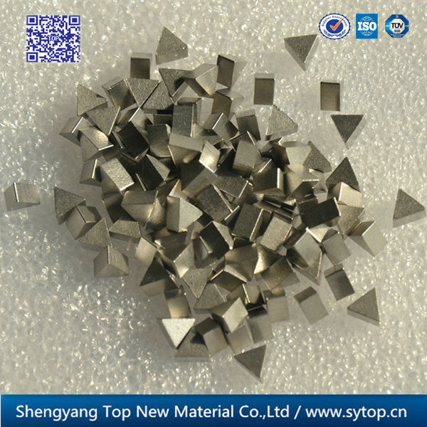 Maching low angle erosion resistance saw tips for band saw machine