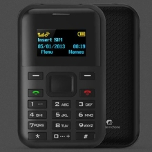 2017 New AEKU C8 Card Mobile Phone 1.3 inch, MTK6261D, Support Blue tooth, GPRS Position, GSM (Black)
