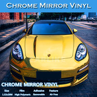 CARLIKE Chrome Metallic Mirror Self Adhesive Film Car Vinyl Wrap