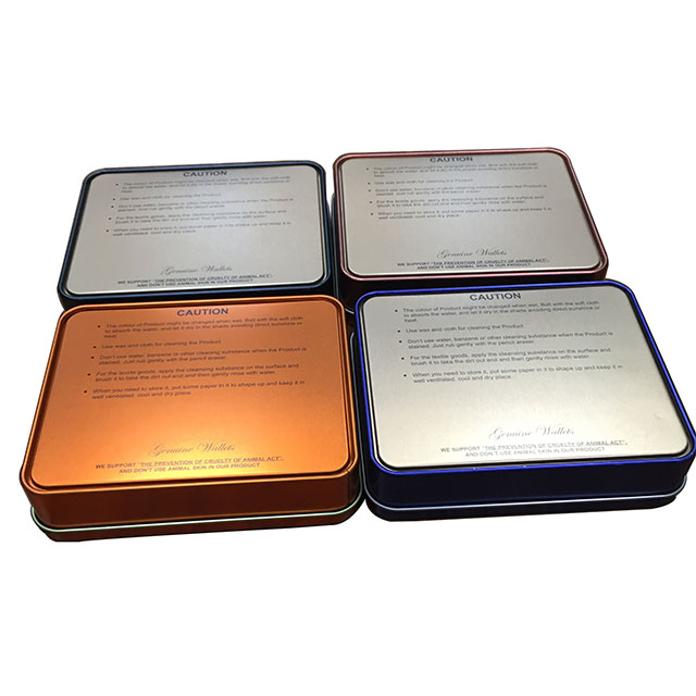 Square Printed Metale Tin Boxes,Coin Tin Cans Cologne case,Perfume tin box