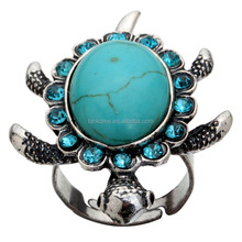 Wholesale Turquoise Turtle Rings Fashion heart rings for women /man
