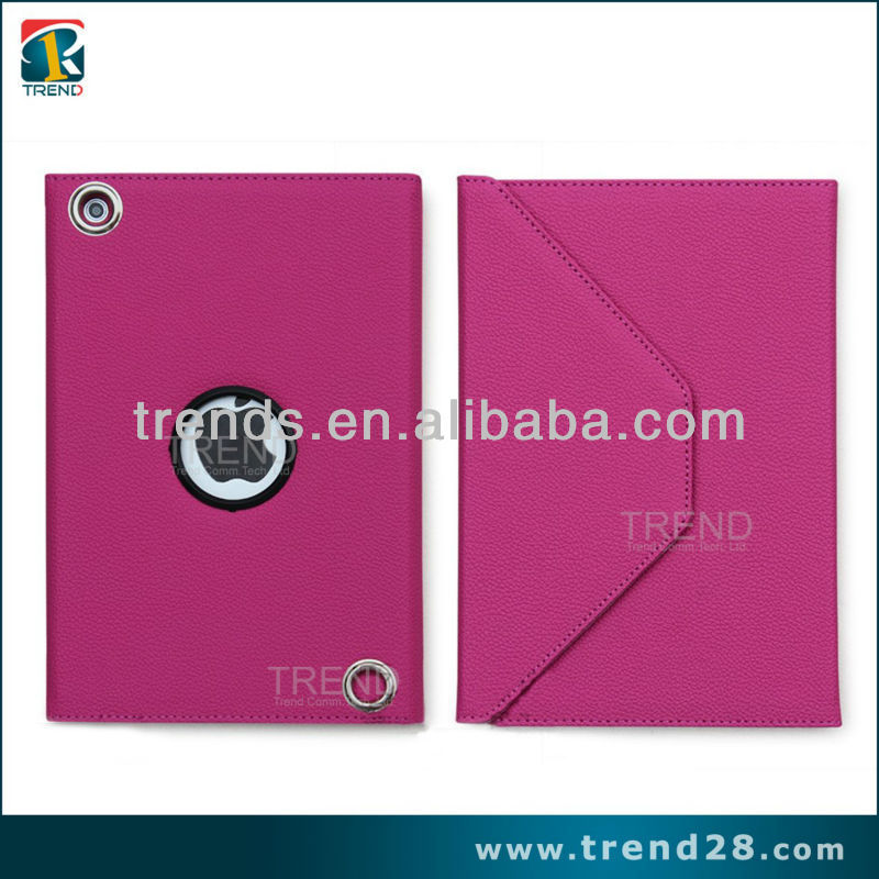 good price hot sale 360 rotatr envelope style tablet case for ipad mini