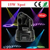 CE RoHS/led stage light/15w Dmx512 Control Spot Moving Head Light