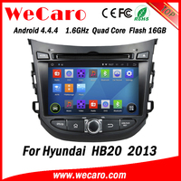 Wecaro WC-HH7026 Android 4.4.4 car dvd player for Hyundai HB20 2013 with radio 3G wifi playstore