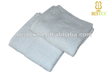 wholesale Hotel Organic Terry cloth 100% cotton white softtextile cut pile face towel