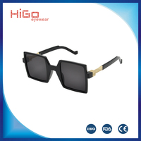 LATEST DESIGN EYEWEAR WOMEN PLASTIC SQUARE FRAME SUNGLASSES