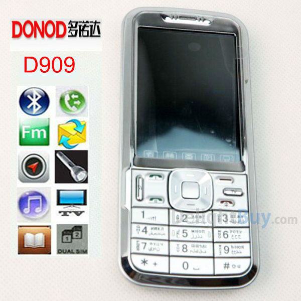 DONOD D909 Unlocked low end Cheap Phone 2.6 inch touch screen Bluetooth MP3 Video FM Radio.java game bar phone