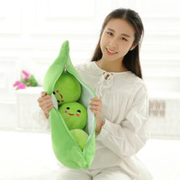 Size 50 cm Cute Children unisex peas plush doll pillow cushion birthday Christmas gift fruit series gift plush toys