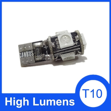 T10 automobile width indicating bulb W5W 12V 5050 industrial packaging led t10