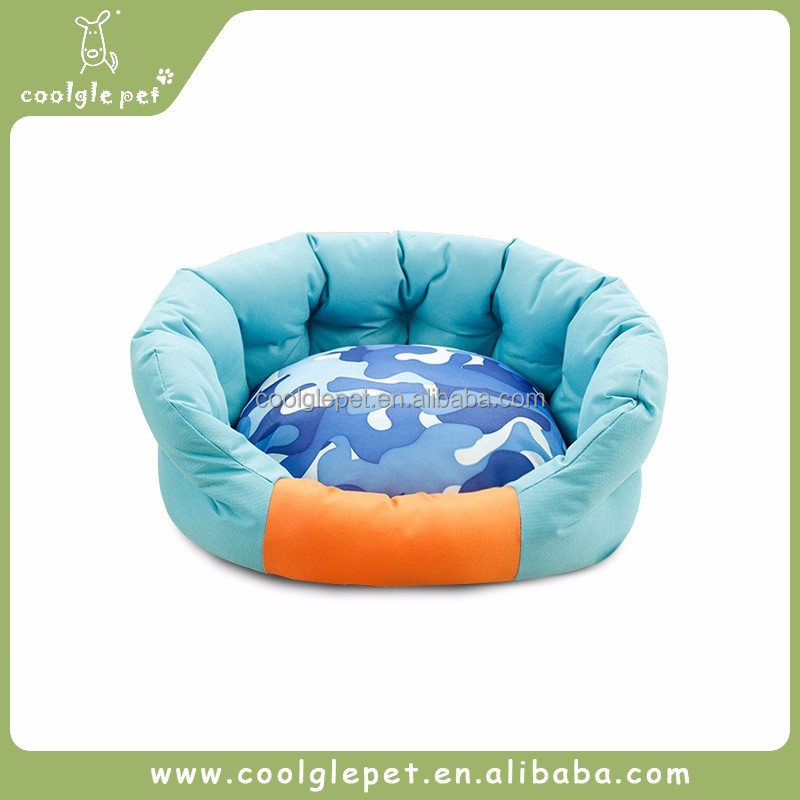 Sofa Style Round Shape Bedding Dog Fleece Bed Pet Sleeping House Beds for Puppy