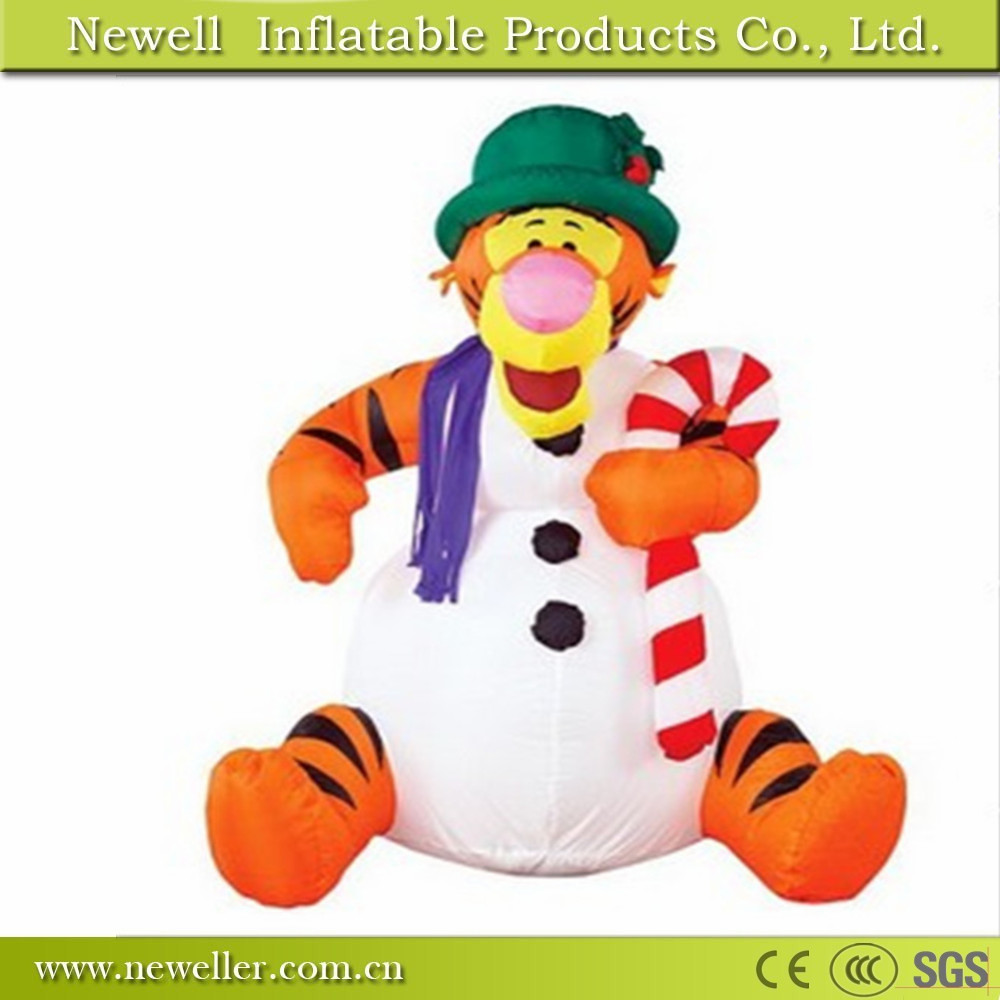 High quality custom chrismas inflatable tiger decoration for customer