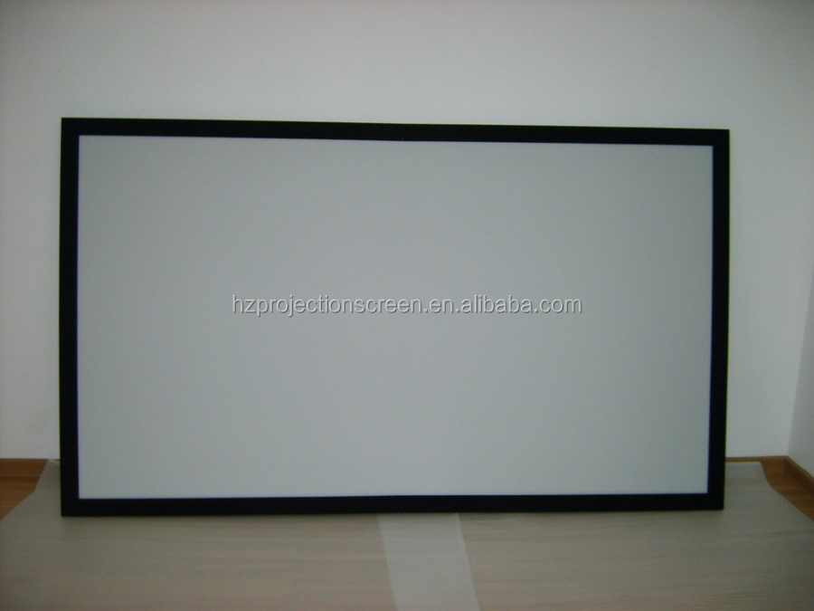 Hot selling DH PVC Rear fixed frame projector screen 150 inch