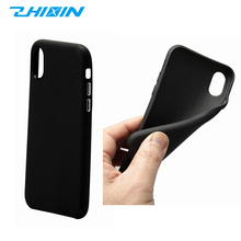 Hot products soft TPU black phone case for iphone 8 /8plus tough back cover cases