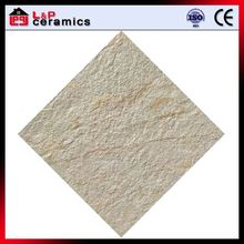 Ivory textured slate look wholesale tile floor ceramic