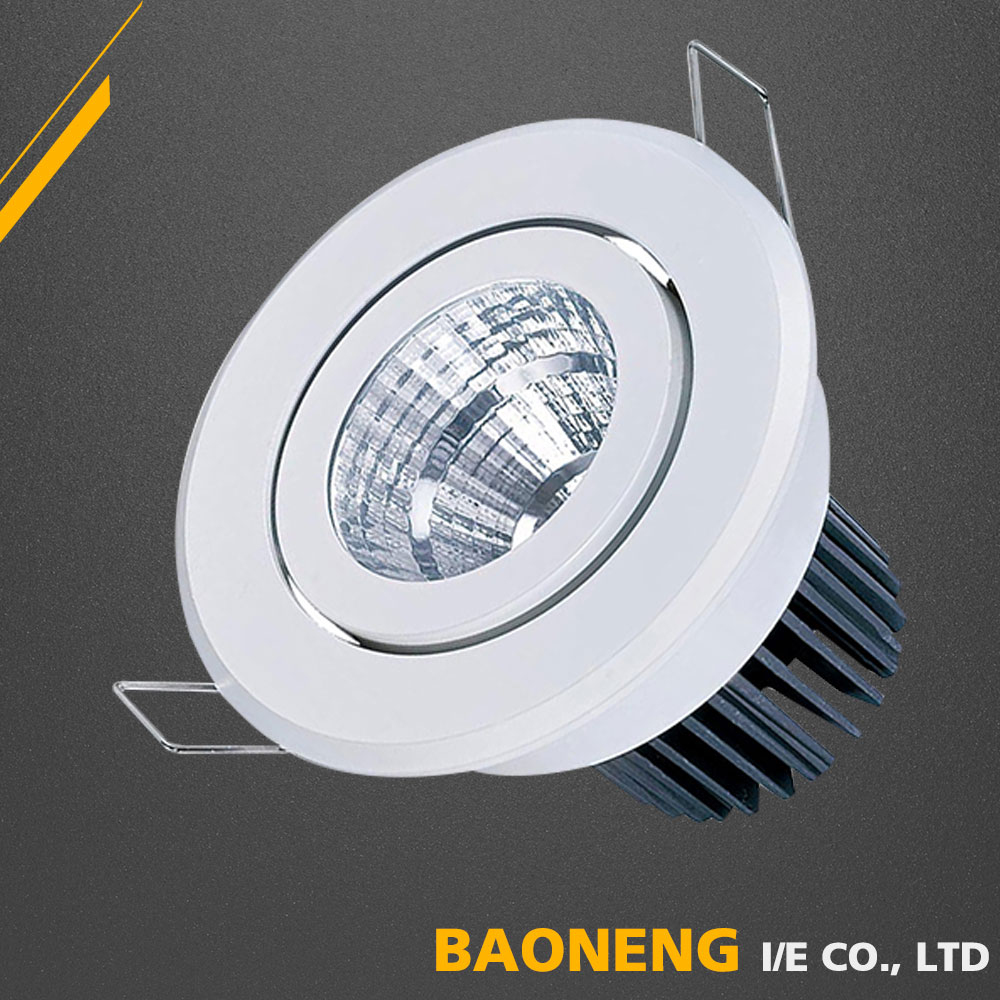 European Style Pure Aluminum 7W LED Ceiling Light China Made