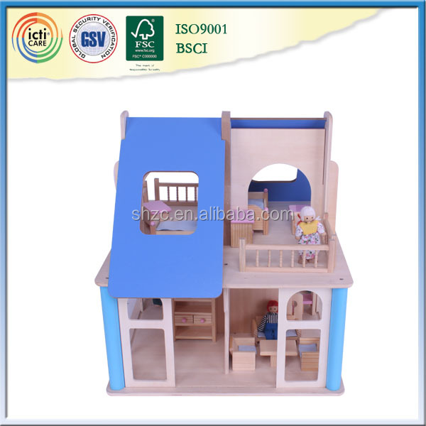 Blue doll house furniture and accessories,doll house kits