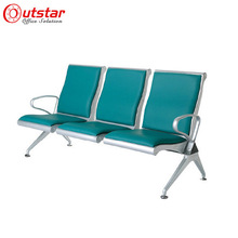 Green high quality low price airport waiting area PU waiting chairs