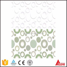 New circle design green and white color glossy finish textured ceramic wall tile for bathroom China wholesale