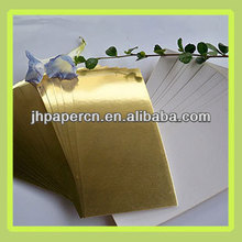 hot sale good quality factory production glosssy gold card paper