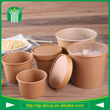 disposable kraft paper soup bowl with lids