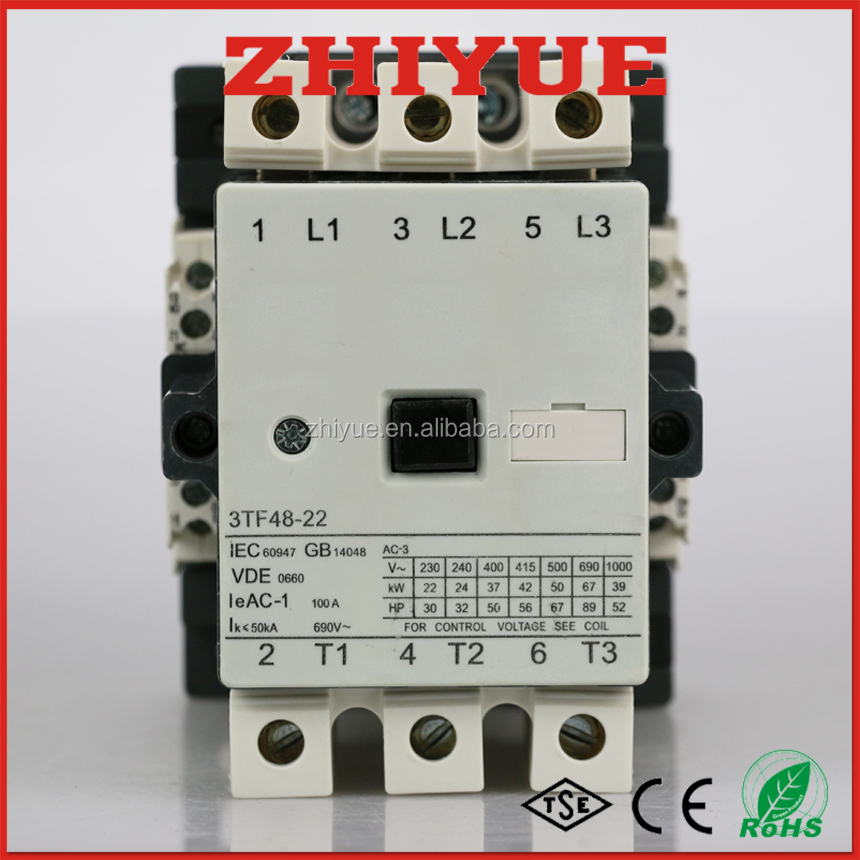 3TF48 75a 3p 120v types of contactor