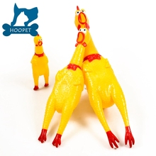 Screaming Shrilling Yellow Rubber Chicken Pet Dog Boy Kids Sound Toy Chew For Sale