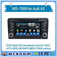 2016 Wisdom new Pure android car dvd for Audi A3 GPS navigation with wifi 3G DVR OBD wifi BT IPOD RDS ATV car