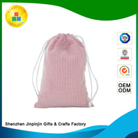 OEM standard size cotton cosmetic tote string bag