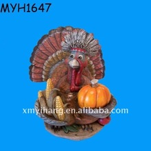 resin thanksgiving turkey figurine