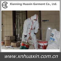 White type 5/6 disposable microporous coverall for construction