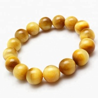 Natural Gold Tiger Eye Gemstone Elastic Bracelet Good for Healing and Energy